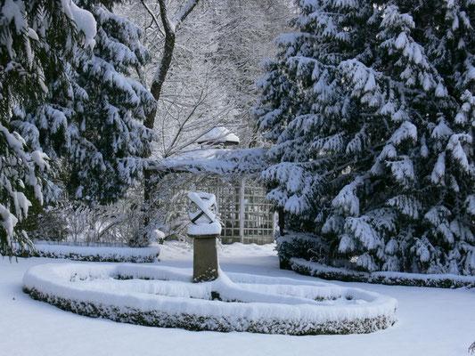Winter im Garten Altes Forstamt im Teutoburger Wald