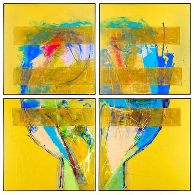 """""""flash for empathy 13"""" 210 x 210 x 3cm, Kreuzfuge"""