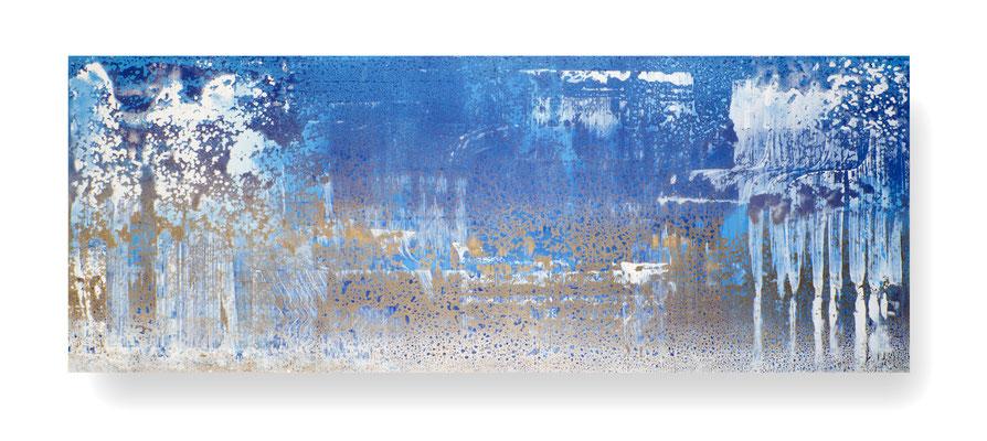 Ohne Titel/Untitled, 90 x 240 cm, Mischtechnik auf Leinwand/ Mixed Media on Canvas, 2016