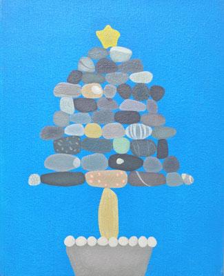 石メリークリスマス   Stone merryXmas.             F3  Oil on canvas, 2009