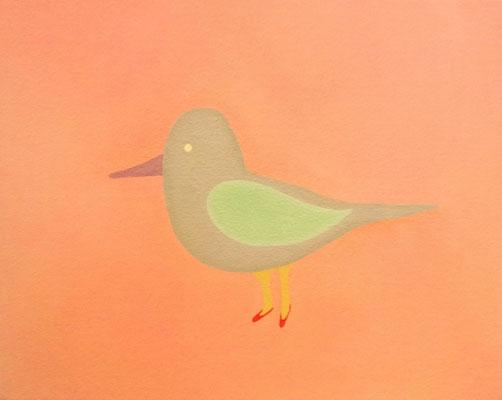 とり    bird.             F8   Oil on canvas, 2009