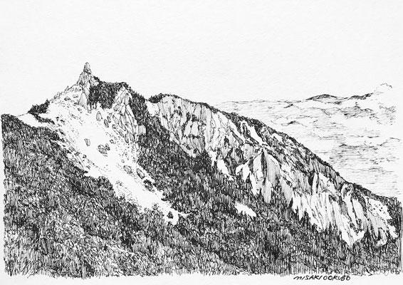 南アルプス 鳳凰三山 地蔵岳