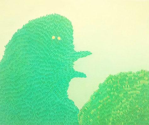 ミドリおばけ    midoriobake.             F10   Oil on canvas, 2009