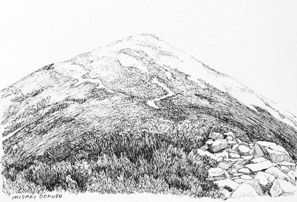 北アルプス 爺ヶ岳への稜線