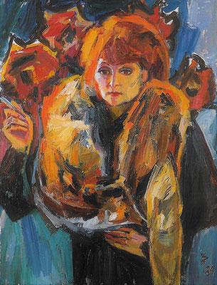 Der Rotfuchs, 1984, Öl auf Leinwand, 90 x 120 cm