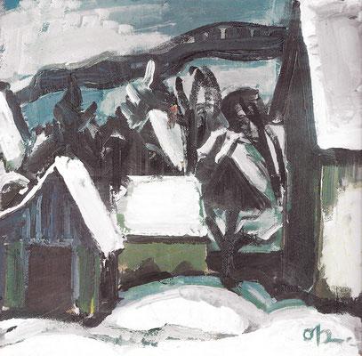 Häuser im Schnee 1969