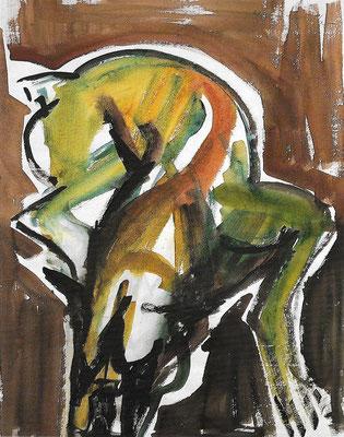 Treuer Weggefährte, 1980, Aquarell auf Papier, 49 x 62 cm
