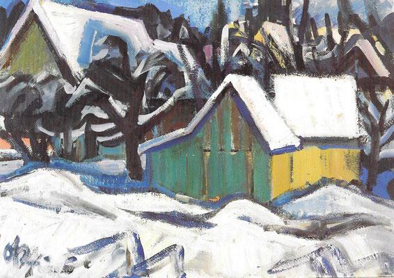 Häuser im Schnee II 1969