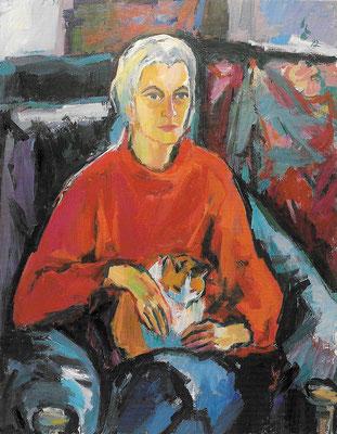 Portrait Dr. Brigitte Trinks-Möhrle, 1992, Öl auf Hartfaser, 100 x 130 cm