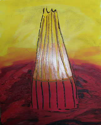 Der schöne Schein,  Acryl auf Leinwand, 80 cm x 100 cm