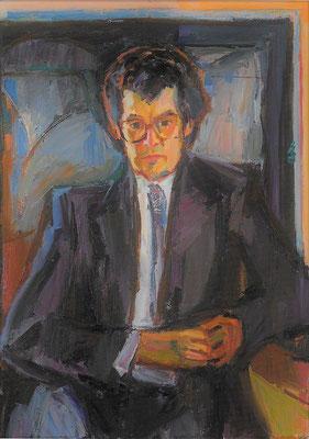 Portrait Friedhelm Möhrle, 1985, Öl auf Leinwand, 85 x 120 cm