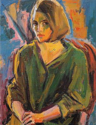 Katja, 1986, Öl auf Hartfaser, 86 x 110 cm