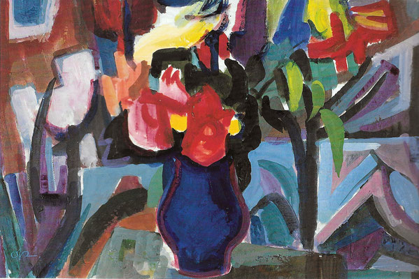 Stilleben mit blauer Vase, 1967