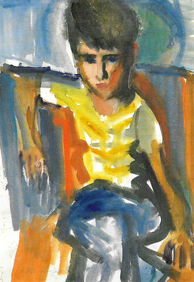 Tochter Rotraud, 1972, Aquarell auf Bütten, 54 x 76 cm
