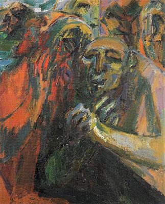 Judas, 1980, Öl auf Hartfaser, 91 x 112 cm