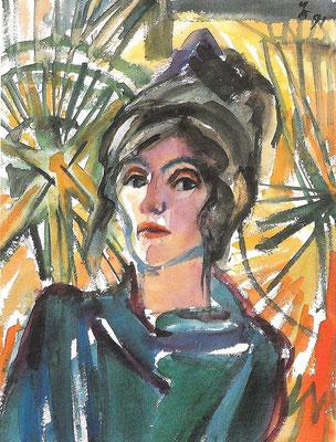 Sibylle, 1991, Aquarell auf Bütten, 57 x 75 cm