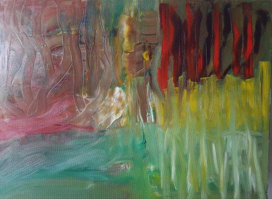 Teich, Öl auf Leinwand, 70 cm x 80 cm