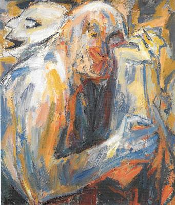 Alter Narr, 1978, Öl auf Hartfaser, 87 x 100 cm
