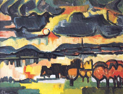 Wolkenstimmung am Untersee 1963