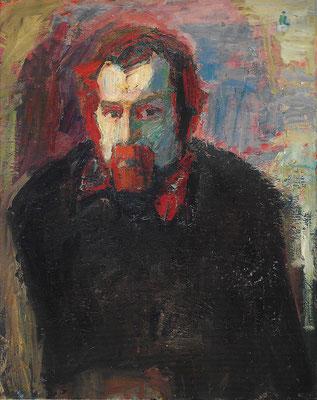 Männerportrait, 1975, Öl auf Leinwand, 80 x 100 cm