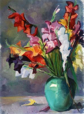 Blumenstrauß, 1949, Öl auf Karton, 37 x 50 cm