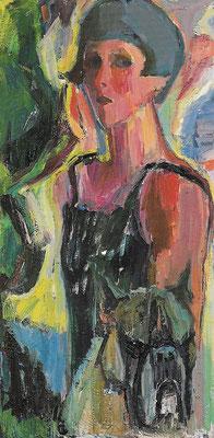 Selbstbildnis, 1976, Öl auf Leinwand, 50 x 100 cm