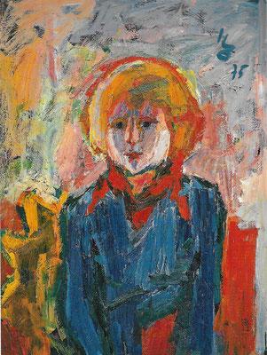 Blonder Knabe, 1975, Öl auf Hartfaser, 72,5 95,5 cm