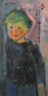 Kind Lothar, 1965, Öl auf Hartfaser, 92 x 48 cm