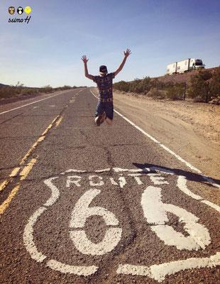 Supporter auf der Route 66 mit seiner seimoH Snapback