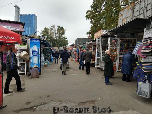Kleiner Markt in unmittelbarer Nähe des Bahnhofes