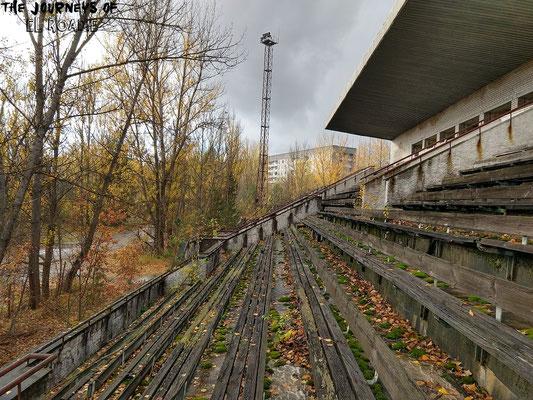 Das alte Fußballstadion von Prypjat