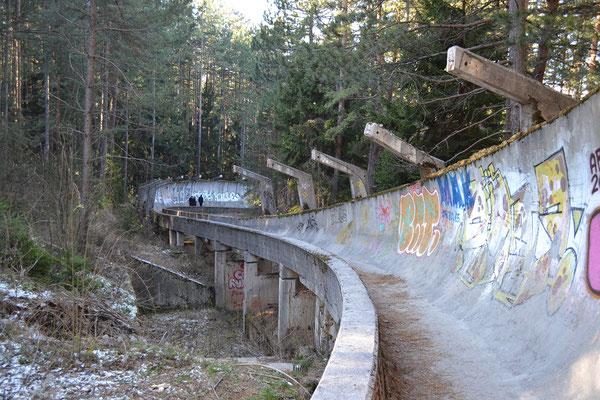 Bobbahn der olympischen Winterspiele 1984