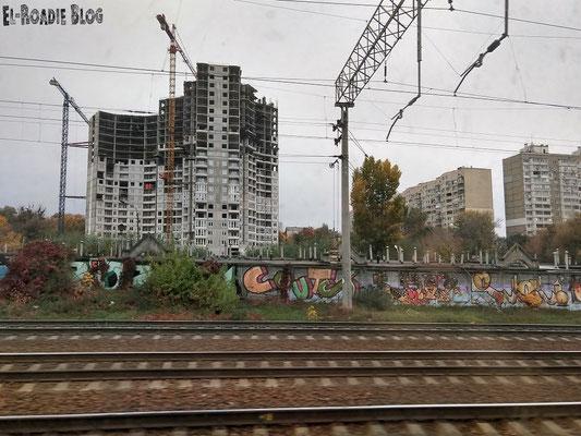 Einfahrt in Kiew