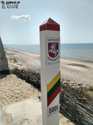 Grenze Litauen / Lettland an der Ostsee