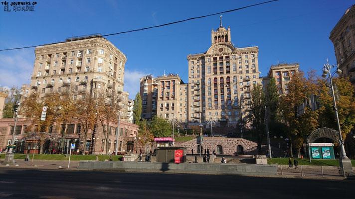 Stalinistische Architektur findet man häufig in Kiew
