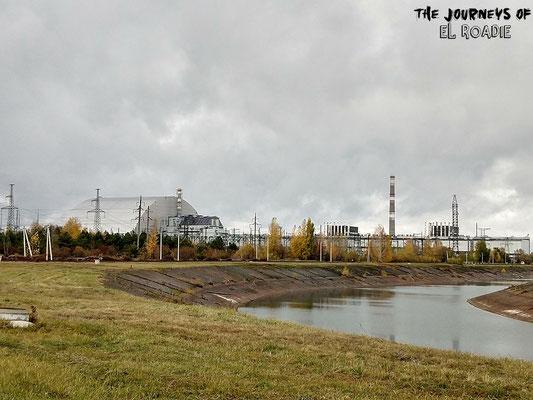 Kurz vor dem Atomkraftwerk