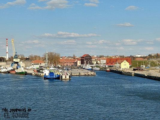 Blick von der Fähre auf die Altstadt von Klaipeda