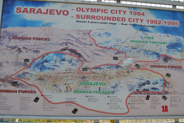 Sarajevo: 1984 olympische Winterspiele, nur wenige Jahre später belagerte Stadt