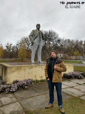 Die letzte Lenin Statur auf ukrainischen Boden
