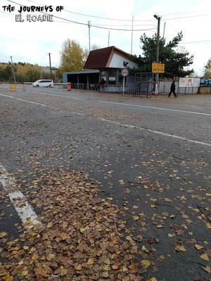 Der Checkpoint (Fotografieren ist hier verboten, daher das ungünstige Bild)
