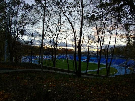 Blick auf das alte Dinamo Kiew Stadion