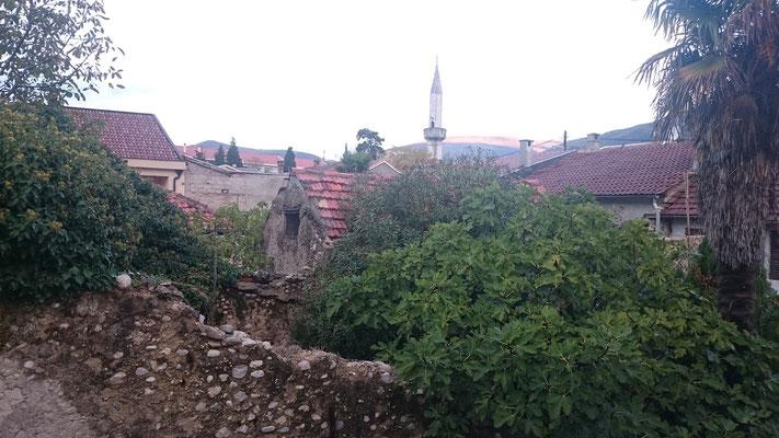 Ausblick von meiner Unterkunft, mitten in der Altstadt von Mostar