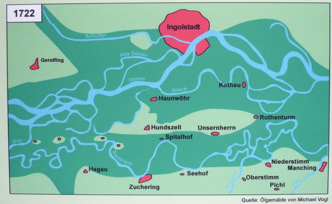 Flächenversiegelung im Jahr 1722