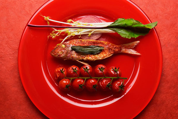 Rotbarbe - Foodfotografie - Fotokunst von Jürgen Müller