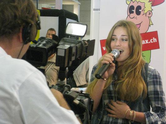 14 Jahre alt, erster TV-Auftritt in der Schweiz