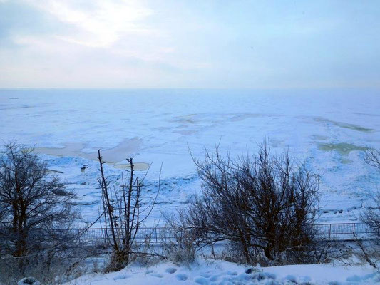зима в Таганроге