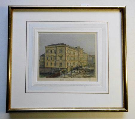 Landgericht, fälschlich Rathaus, von Malte Brun, Holzstich um 1880
