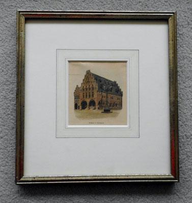 Holzstich von 1899, handcoloriert