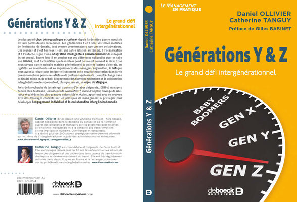 """Livre """"Générations Y et Z, le grand défi intergénérationnel"""""""