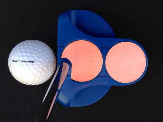White Steel 2-ball CS with copper discs, brushed finish